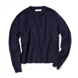 HEAD PORTER PLUS - MOHAIR KNIT NAVY