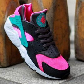 Nike - NIKE AIR HUARACHE HYPER PINK/DUSTY CACTUS-MEDIUM ASH