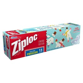 Ziploc - Holiday Limited Edition Gallon Freezer Bags 15 ct