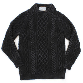 INVERALLAN - INVERALLAN / 1A Crewneck Sweater - Black Denim
