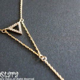 Ostara - Long Y-Necklace,Double Triangle