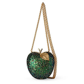ANYA HINDMARCH - Apple glitter–embellished framed clutch