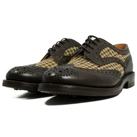 Tricker's - Trickers Shoes Harris Tweed Derby Mix M6973-BRW Shoes