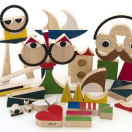 miller goodman - Image of PlayShapes 74 Wooden Blocks