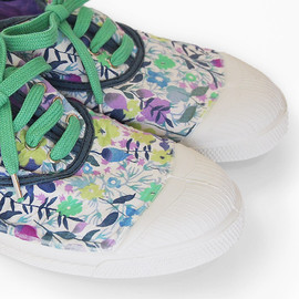 BENSIMON, ベンシモン, LIBERTY ART FABRICS - Tennis Lacet Liberty Femme watercolored flowers