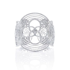 LOUIS VUITTON - Louis Vuitton Joaillerie Les Ardentes bracelet in grey gold with 1,534 diamonds