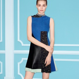 Proenza Schouler - Proenza Schouler Flared Patchwork Dress