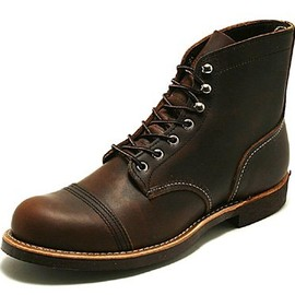 RED WING - IRON RANGE BOOTS no.8111 amber