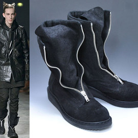 Rick Owens - zipped military boot