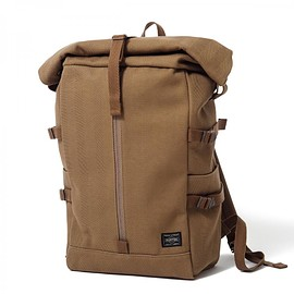 "HEAD PORTER - ""BANFF"" RUCK SACK BROWN"
