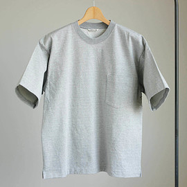 AURALEE - STAND-UP TEE #top gray