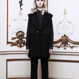 GIVENCHY - Studded Silk Cady Long Vest(EXCLUSIVE)