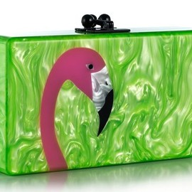 Edie Parker Holiday - 2013 Tropical Bird Pearlescent Acrylic Clutches