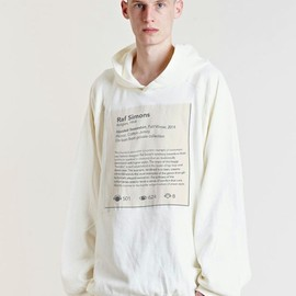 Raf Simons - Hooded Sweatshirt, Fall/Winter, 2014Fleece, Cotton-JerseyOn loan from Private Collection