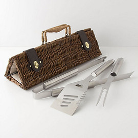 Anthropologie - Barbecue Utensils Basket