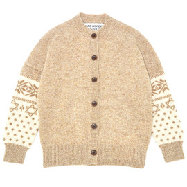 COSMIC WONDER Light Source - SHETLAND WOOL KNIT CARDIGAN