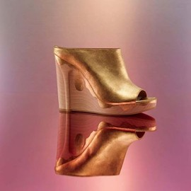Maison Martin Margiela - Gold Distressed Wedge Slide Sandal