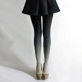 BZRBZR - Ombré tights in Coal