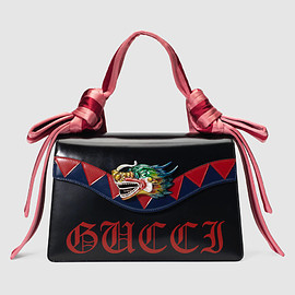 GUCCI - Dragon leather shoulder bag