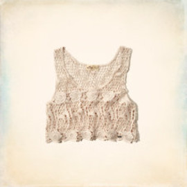 HOLLISTER - HIDDEN HILLS CROCHET TANK