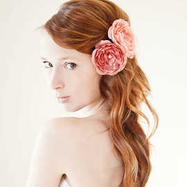 sibodesigns - Dusty Roses - Bridal Hair piece