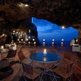 Restaurant inside a cave in Italy - Restaurant inside a cave in Italy