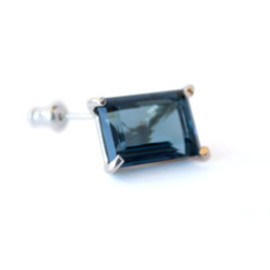 simmon - K10×SV Crystal Earring (navy)