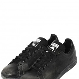 ADIDAS BY RAF SIMONS - STAN SMITH VINTAGE LEATHER SNEAKERS - BLACK