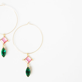 Ostara - 14kgf Hoop Earrings/Vintage glasses