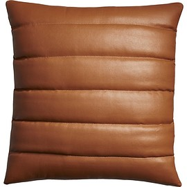 "cb2 - izzy saddle leather 18"" pillow"