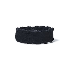 nonnative - LABORER BRACELET NARROW WOVEN EDGE COW SUEDE BLACK