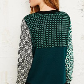 urban outfitters - Cooperative Harlequin Jumper in Green