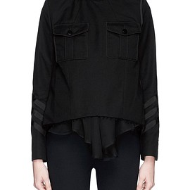 sacai - SS2015 Peplum hem high neck twill top