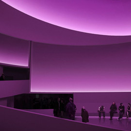 James Turrell - the Guggenheim rotunda as the subject to this site specific work.