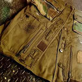 TWENTYFOUR SEVEN - Remake military skirt