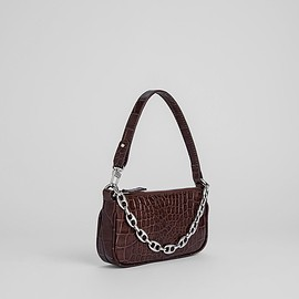 BYFAR - Mini Rachel Nutella Croco Embossed Leather