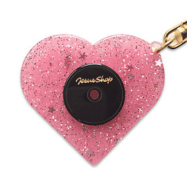 JESUS SHOP - HEART RECORD KEY RING