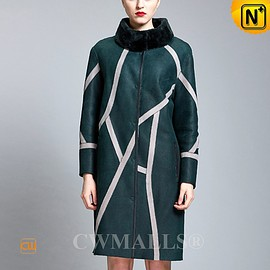 CWMALLS - CWMALLS® Womens Reversible Shearling Coat CW652131