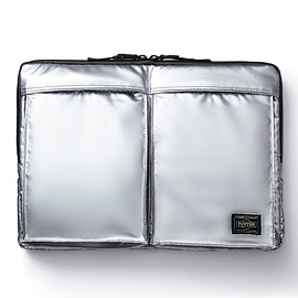 "HEAD PORTER - ""SILVER JET"" LAPTOP CASE 13inch"