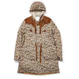 WHITE MOUNTAINEERING - COTTON LINEN CANVAS FLOWER CAMOUFLAGE WESTERN SHOP COAT