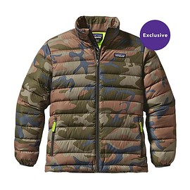 patagonia - Boys' Down Sweater Jacket - Forest Camo: Hickory