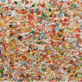 DAN COLEN - Untitled, 2010 Chewing gum on canvas