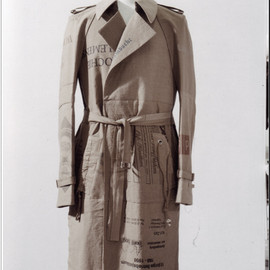 "Maison Martin Margiela - 010 Artisanal ""Shopping bags"" Trench coat."