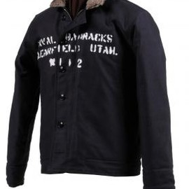 "THE REAL McCOY'S - N-1 DECK JACKET ""NAVAL BARRACKS"""