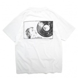 P.K.M.S TEE White × Ice Grey