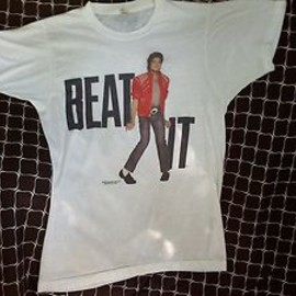 MICHAEL JACKSON - Vintage 1984 Michael Jackson Beat It T-Shirt