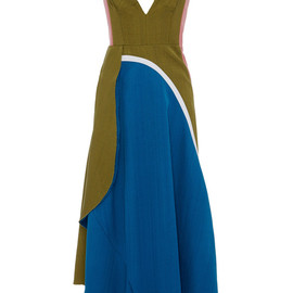 MARNI - SS2015 Tussah Silk Viscose Weave Sleeveless Dress