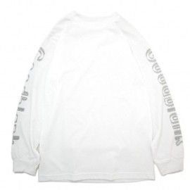 Goodblank - Outline Logo L/S TEE White×L/Grey