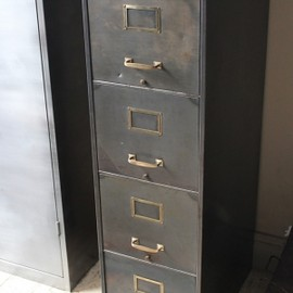 attic - 1930'S STEEL 4 DRAWER FILING CABINET -