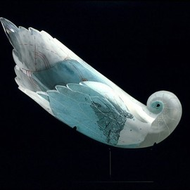 Naoko Takenouchi - Earth, Sea & Air #1, blown glass with copper leaf, sandblasted, 2006